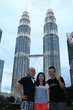 With Simon at Petronas Twin Tower