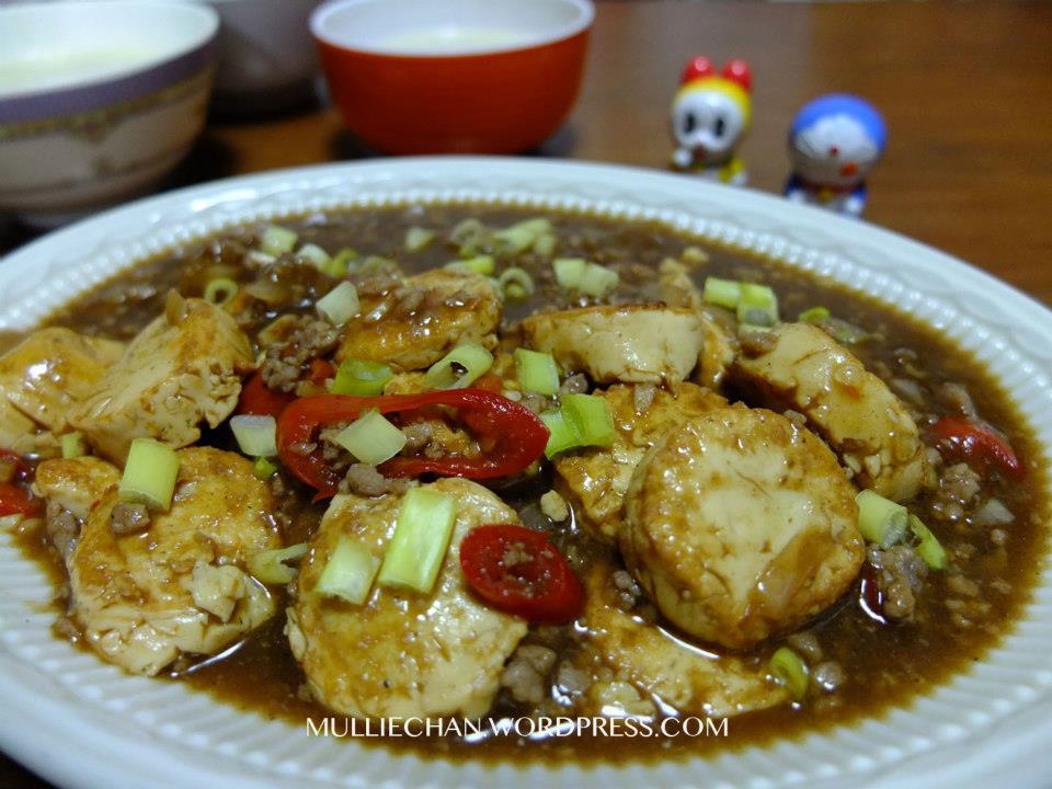 Stir Fry Tofu With Minced Meat