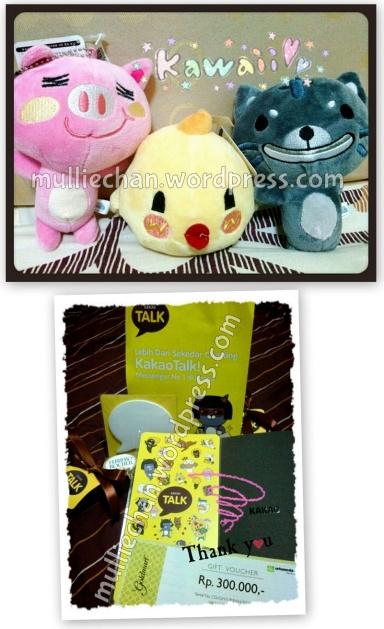 Hadiah 3 boneka Anipang dan isi Goodie Bag