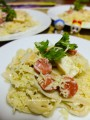 Resep : Fettucine Cheese Cream Asparagus