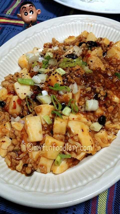 Homemade Mapo Tahu - by Mullie Marlina