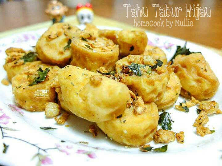 Homecook by Mullie : Tahu Tabur Hijau