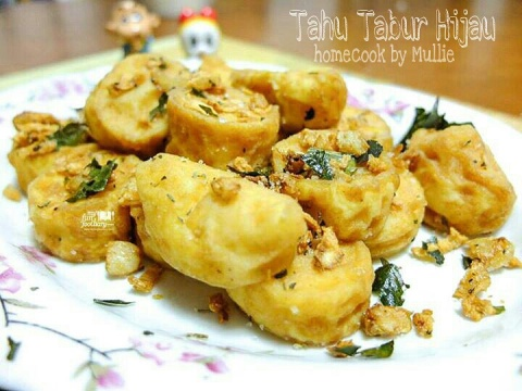Homecook by Mullie : Tahu Tabur Hijau